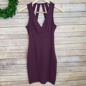 Haute Monde Purple Tight Strap Dress Size Small
